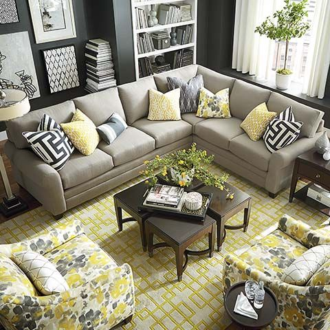 HGTV HOME Design Studio CU.2 L-Shaped Sectional by Bassett ...
