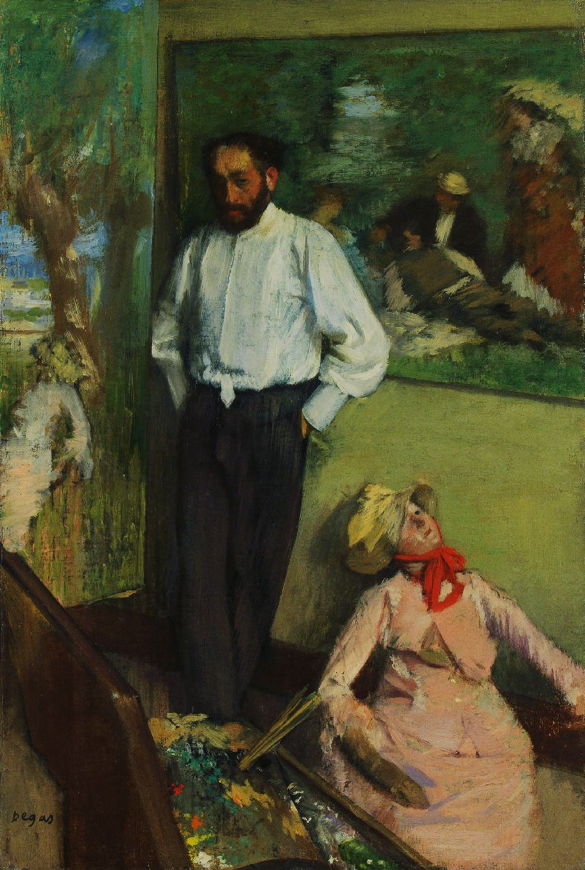 Edgar Degas (French, 1834-1917) Portrait of Henri Michel-Lévy, ca. 1878. Oil on canvas, 27 x 41 ...