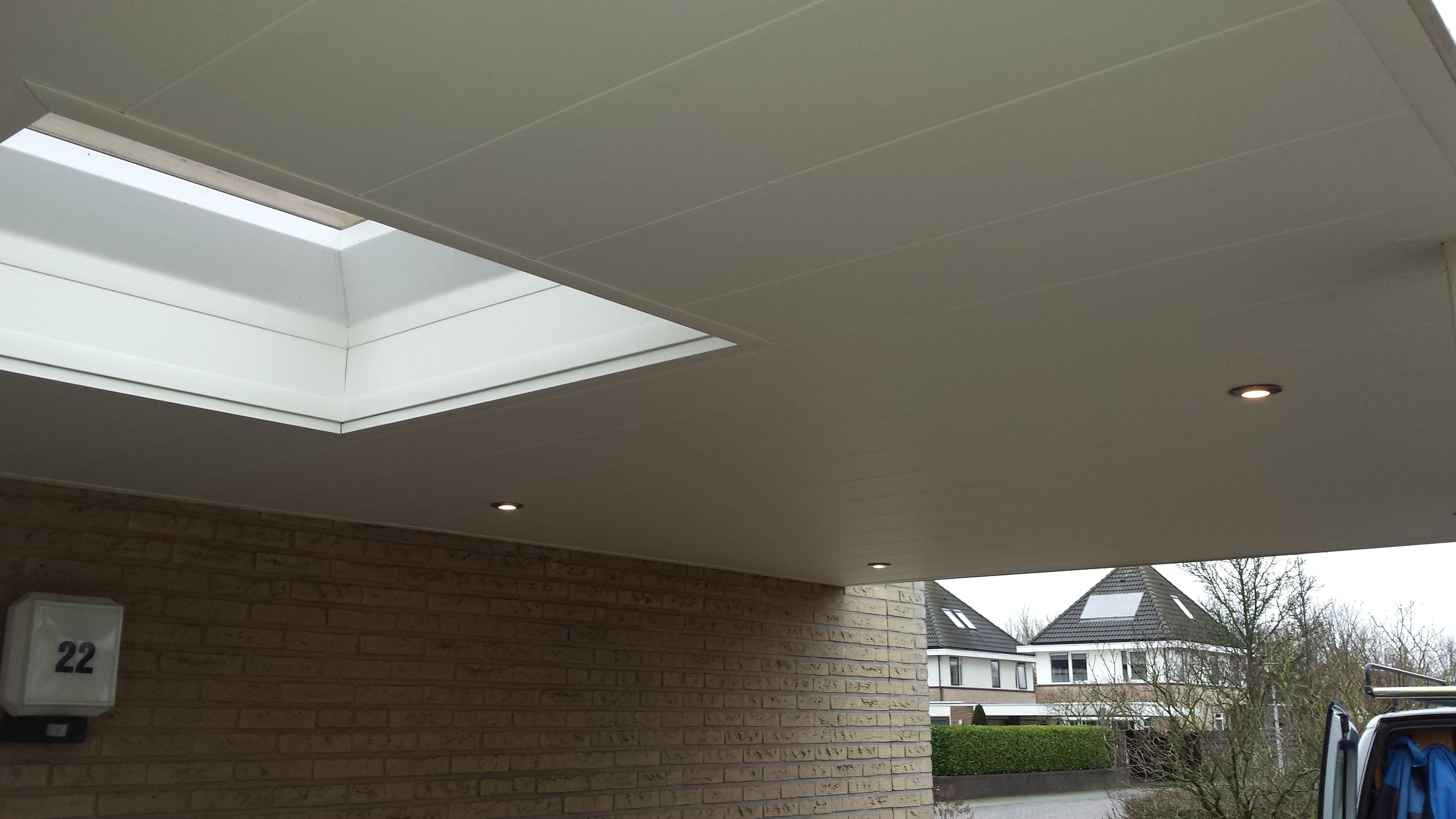 Plafond Met Kunstof Panelen Plafond Carport Spotjes