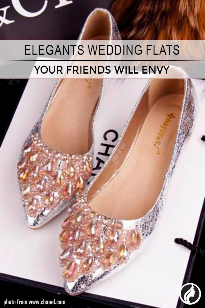Wedding flats are life savers for every bride. There are so many things to do on your wedding day that your feet won't be able to survive until the evening in high heels. With flats you will easily live through the ceremony, photo shoot, and reception
