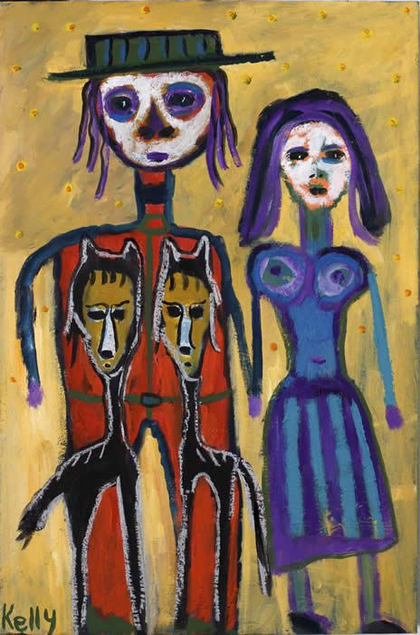 """American WEstern Gothic"" by New Mexico artist Kelly Moore #artbrut #outsider #selftaught"
