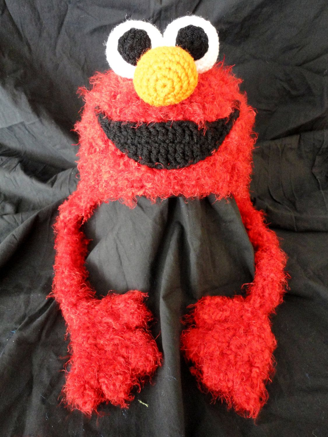 Crochet elmo hat baby child sizes 2000 via etsy crochet elmo got a smile makeover bankloansurffo Gallery