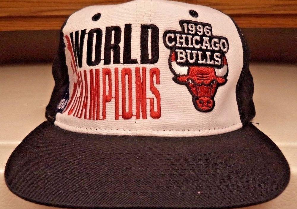 b80ce94e958 Chicago Bulls Hat Cap 1996 World Champion NBA Cap Starter Snapback  Starter   ChicagoBulls