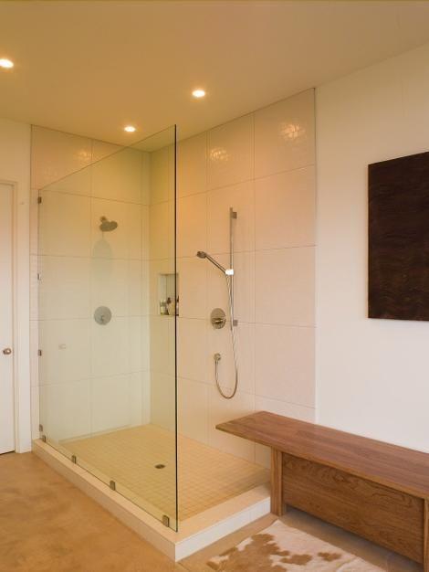 One Wall Shower No Door Shower Bathroom Pinterest Bathroom