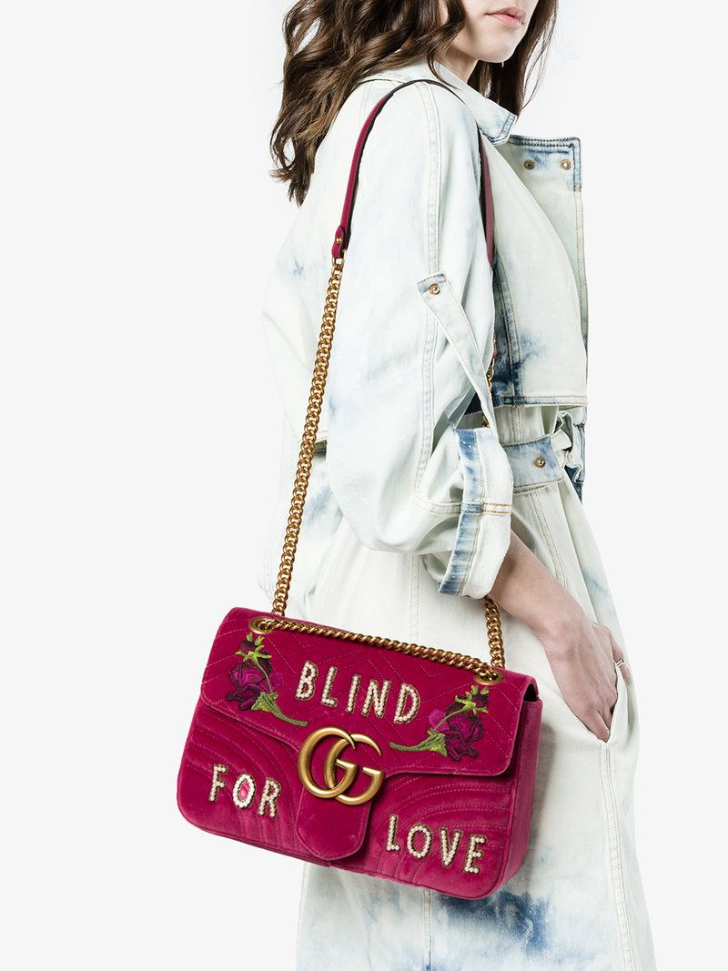 132088ba31c8 fuchsia pink GG Marmont medium shoulder bag in 2019 | daily outfit ...
