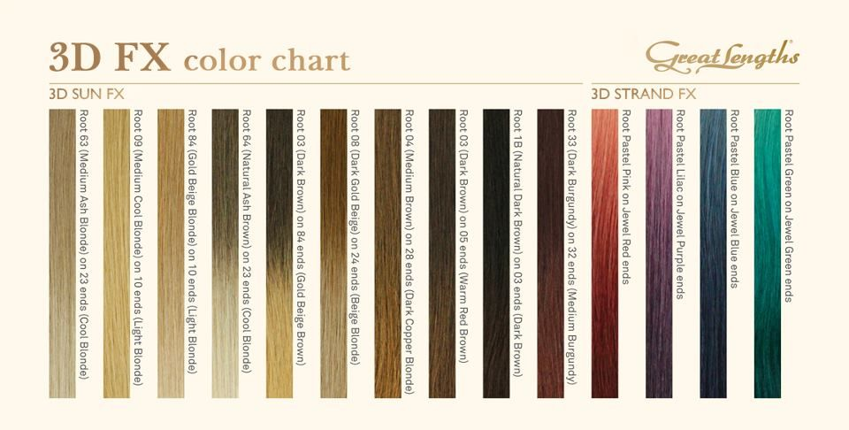 If You Get An Inspiration That Is Diffe From These Shades Great Lengths Will Customize Your Color