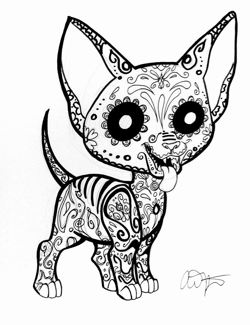 Animal Coloring Vector Luxury Collection Day The Dead Animal Coloring Pages Skull Coloring Pages Dog Coloring Page Animal Coloring Pages [ 1055 x 812 Pixel ]