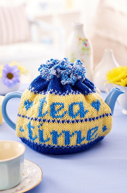 Knitted Fair Isle tea cosy, published in Let\'s Get Crafting issue 72 ...