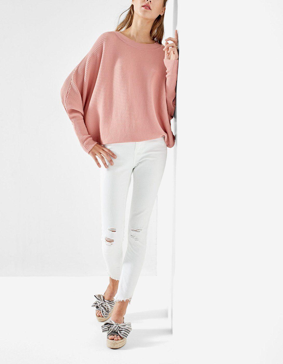 ed46998ff2ac Batwing sleeve sweater - Knitwear