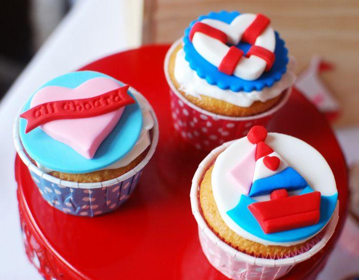 Love boat cupcakes.