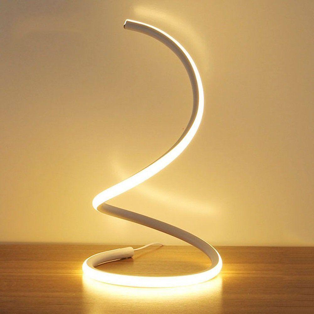 Comodino Lampade Camera Da Letto Design.Modeen Lampada Da Tavolo A Led A Spirale Moderna Lampada Da