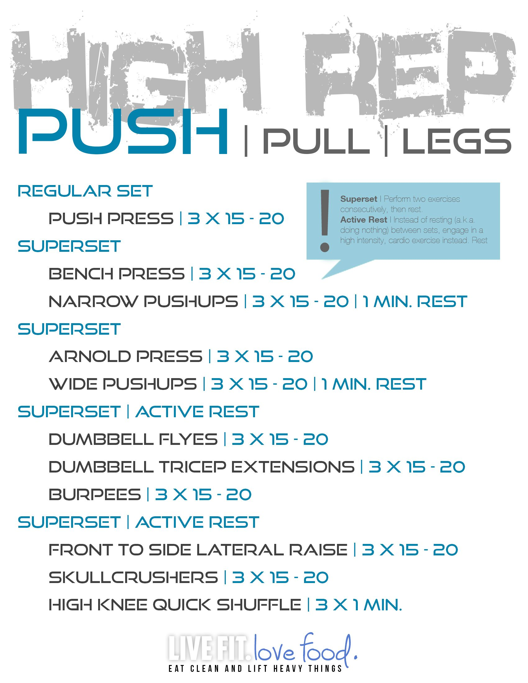 Training | Push/ Pull Workout Routine Cutting | Weight