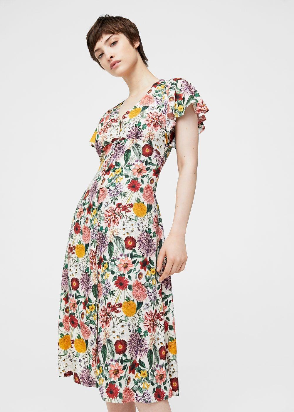 5d8ae8a61230 Floral ruffled dress - Woman | Mango FW17 | Kleid blumenmuster ...