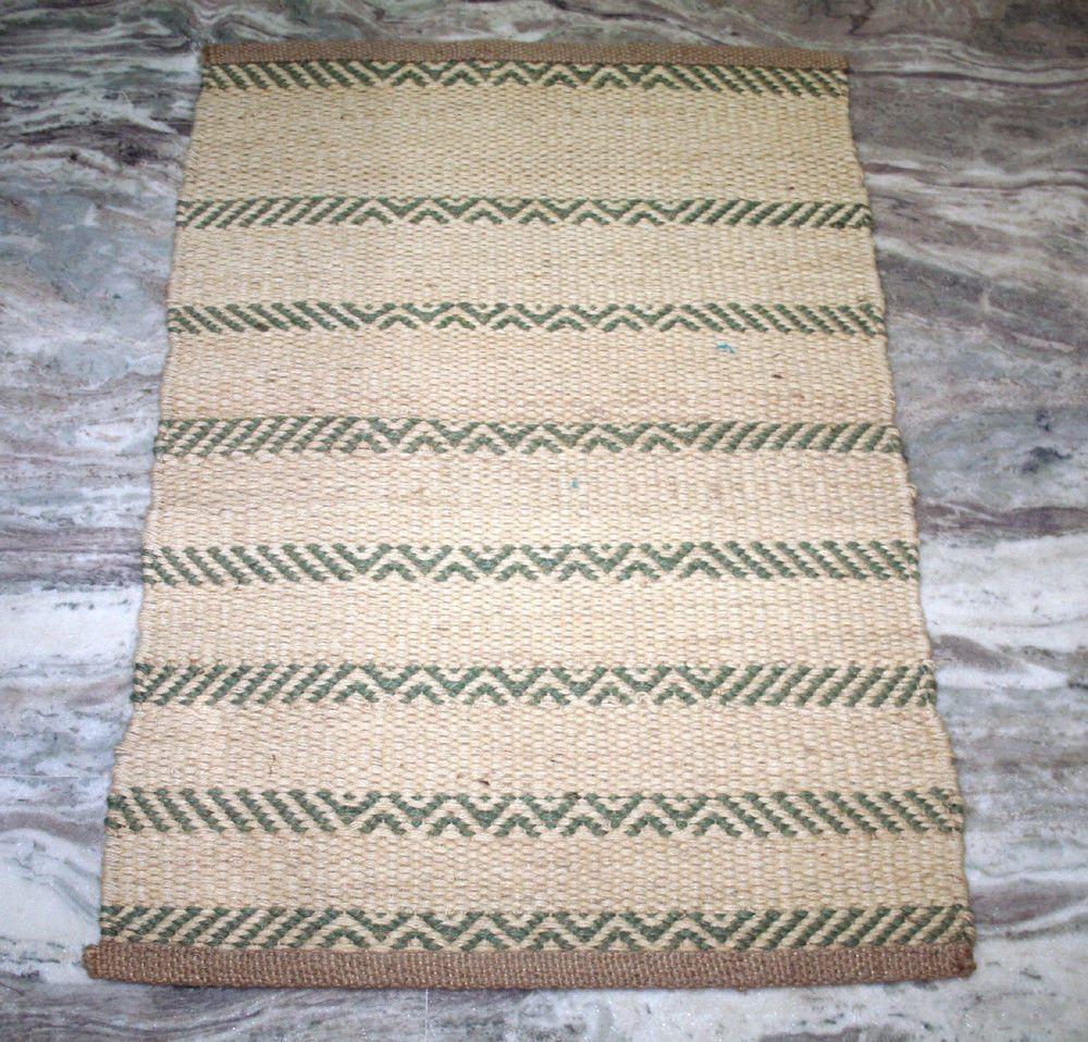 Indian Natural Jute Bath Bathroom Carpet Doormat Ethnic Kitchen Mat ...