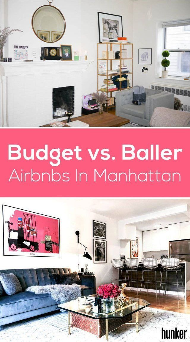 Budget vs. Baller: Airbnbs in Manhattan | Pinterest | Budgeting ...