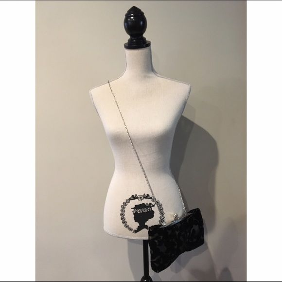 Lulu Townsend Clutch Lulu Townsend Clutch  Used once during my junior prom, no damage, BRAND NEW CONDITION.  The dark black is velvet.  Medium sized inside with small pocket.  *NO TRADES* Lulu Townsend Bags Clutches & Wristlets