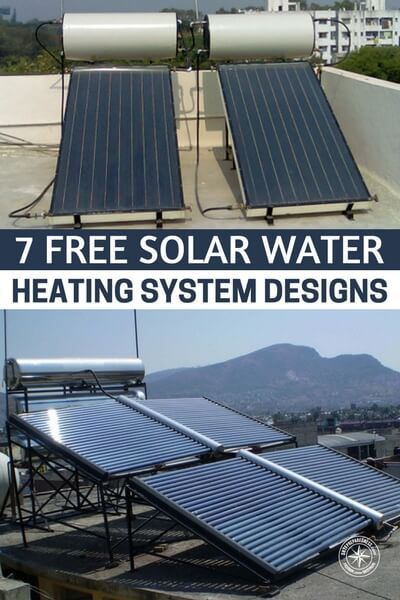 7 Free Solar Water Heating System Designs Shtfpreparedness Solar Water Heating System Solar Water Heating Water Heating Systems