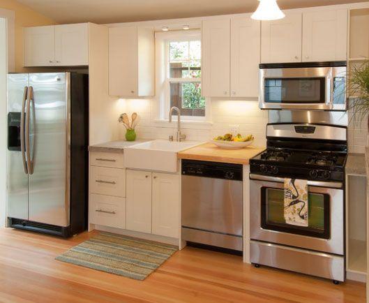Cocinas peque as cocinas comedor kitchen pinterest for Cocina comedor pequena