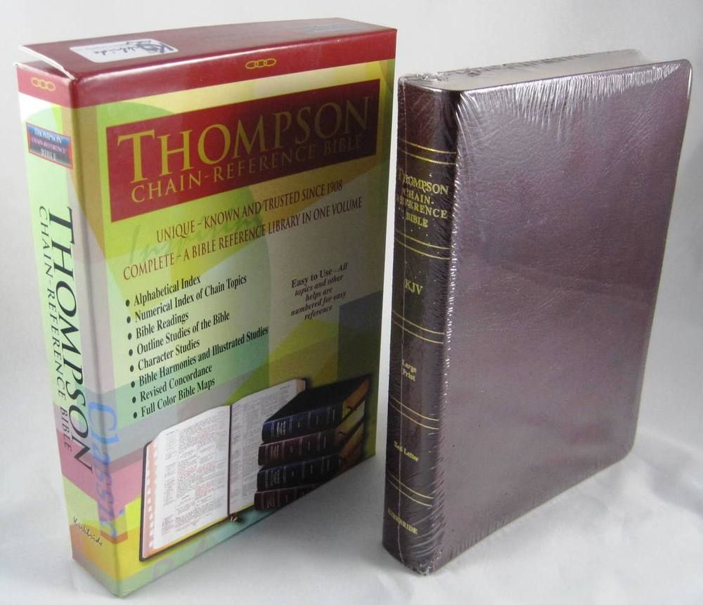 KJV Thompson Chain-Reference Bible Genuine Leather Large