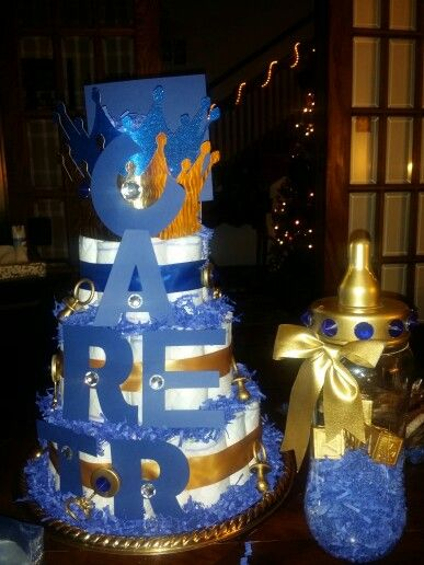 ROYAL PRINCE THEMED DIAPER CAKE!   Creative baby shower ...