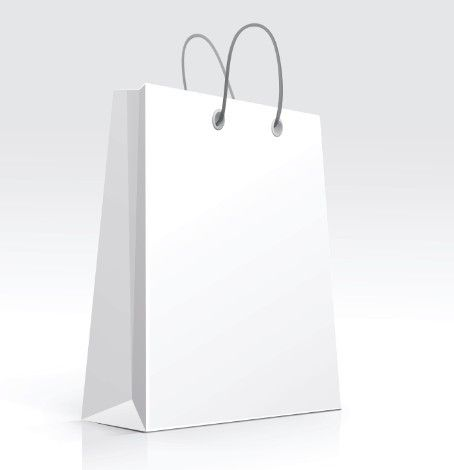 Elegant Vector Paper Shopping Bag Design Template 02 - TitanUI ...