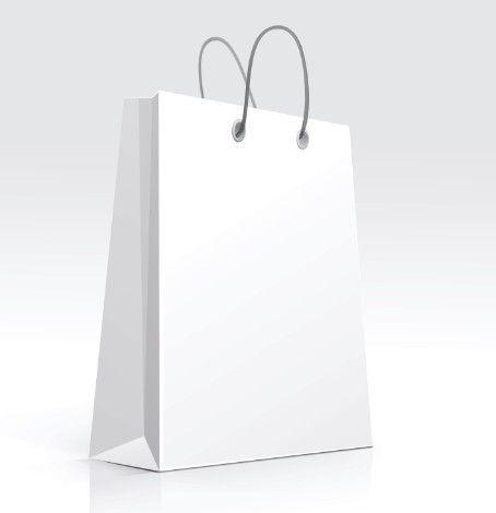 Free Elegant Vector Paper Shopping Bag Design Template 02 | Shopping ...