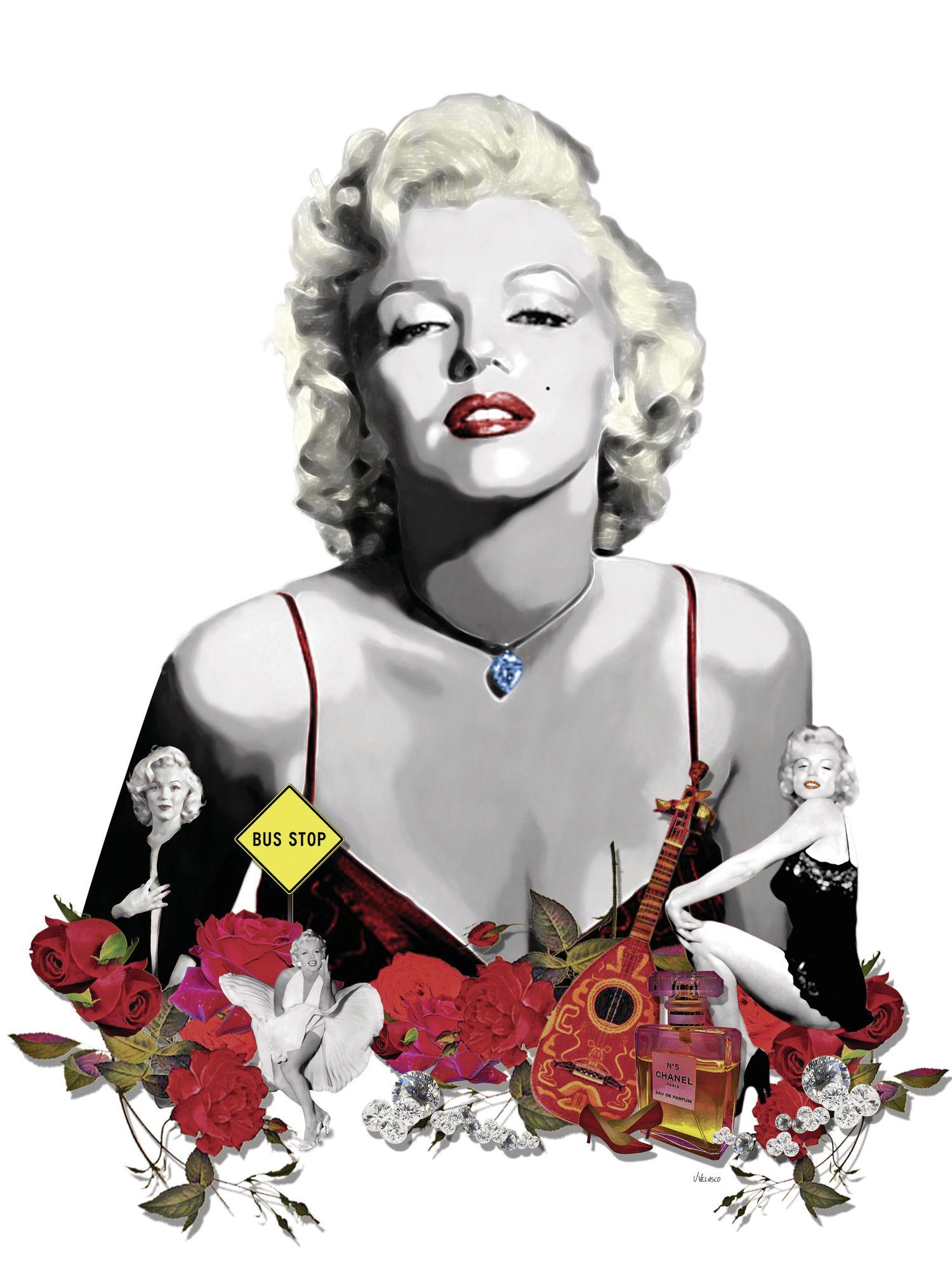 Marilyn Monroe White wallpaper mural Mural, Monroe