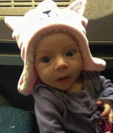 Baby on Amtrak train