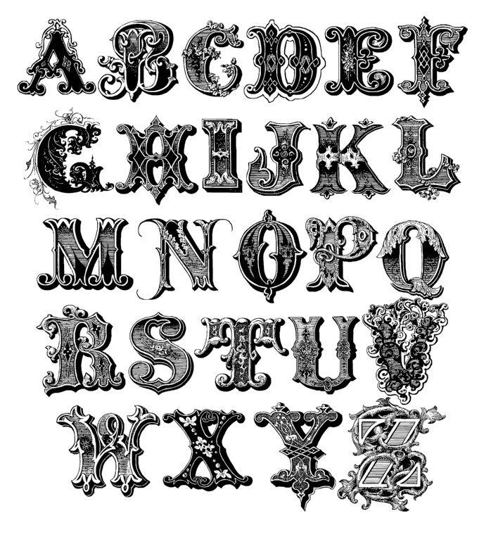 Decorative Alphabet Fonts 10 Mike Fancy Font Images Fancy