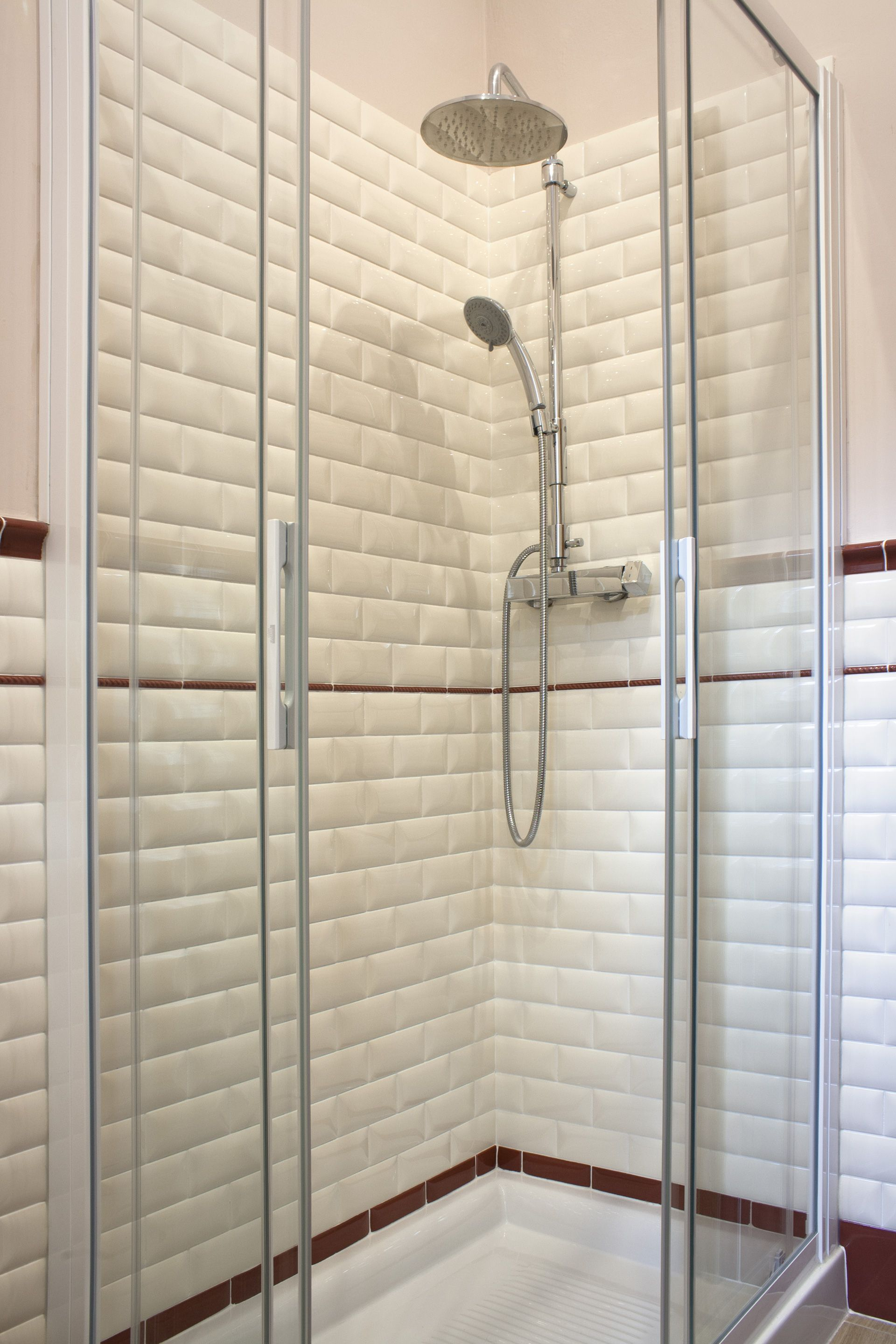 ceramic tile #bathroom wall #white wall # bone wall #bathroom ...