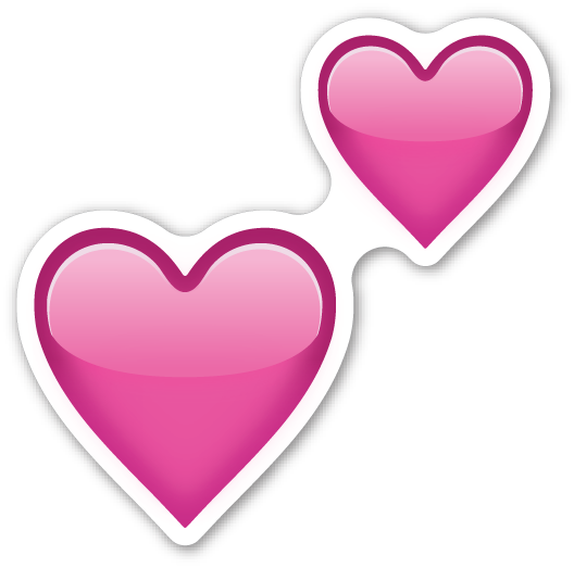 Two Hearts Emojis Pinterest Emojis Emoji Stickers And Emoji