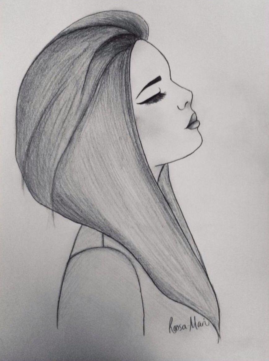 Inspirational art work girl drawing easy easy drawings of girls tumblr drawings easy