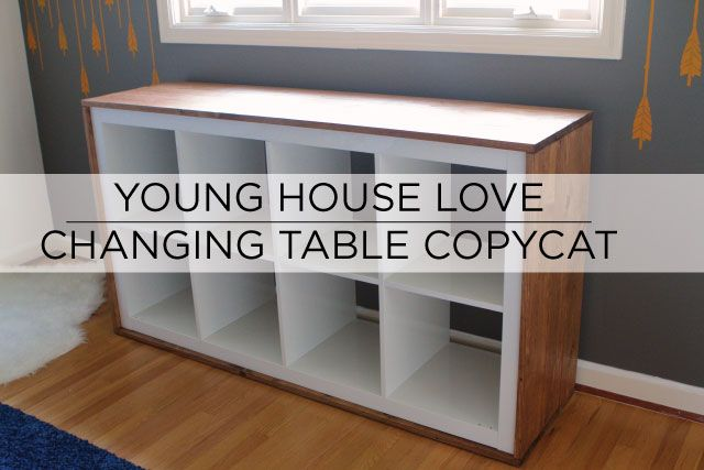 rustic changing table project inspired by house uses ikea expedit bookcase