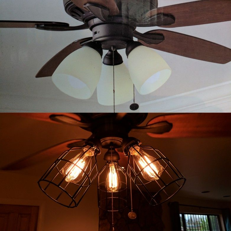 Actually Inspiring Low Cost Concepts To Make Superior Hunter Ceiling Fan Decorations Ceiling Fan Makeover Ceiling Fan With Light Fan Light