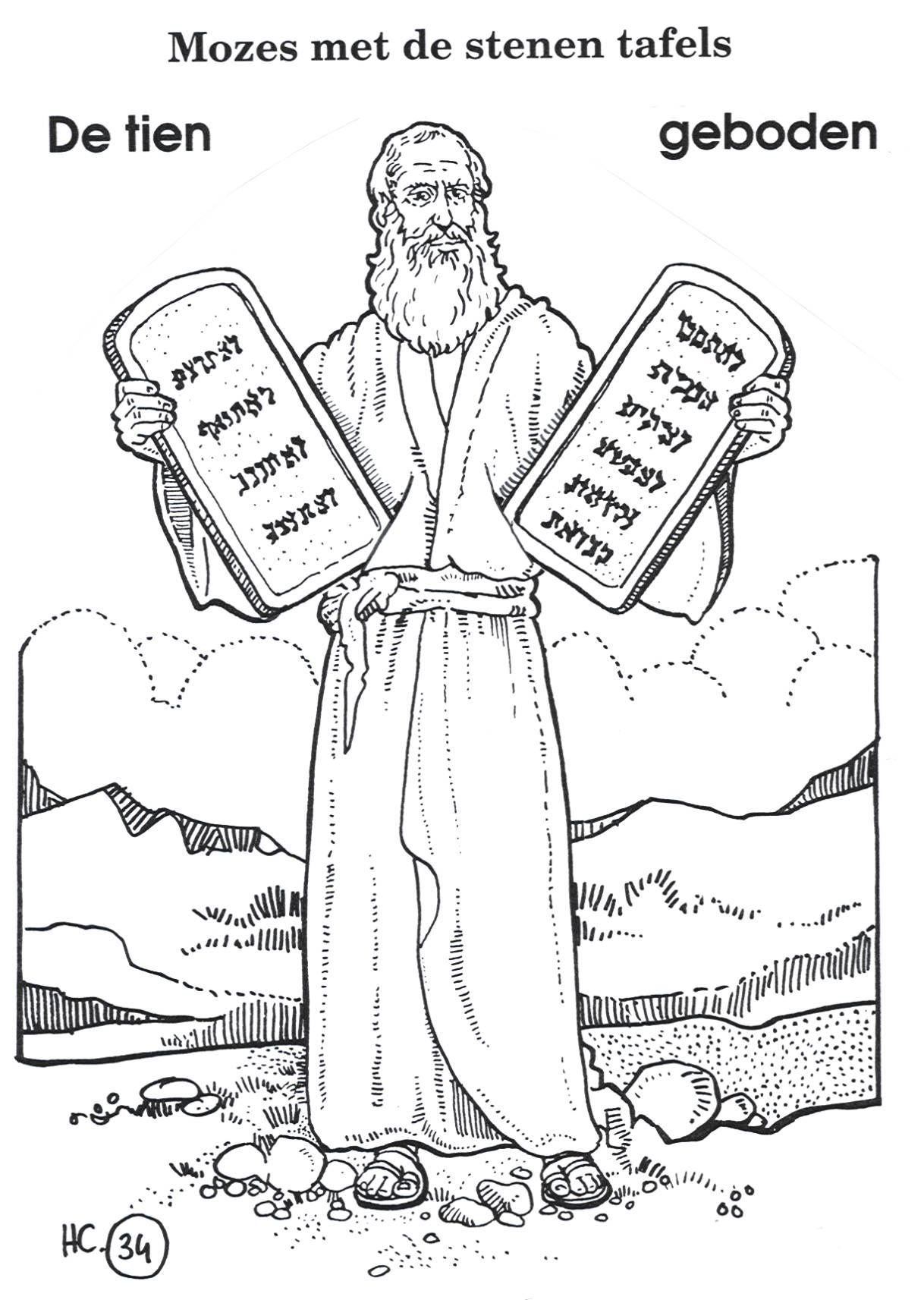 Kleurplaten Moises Biblico Ideias