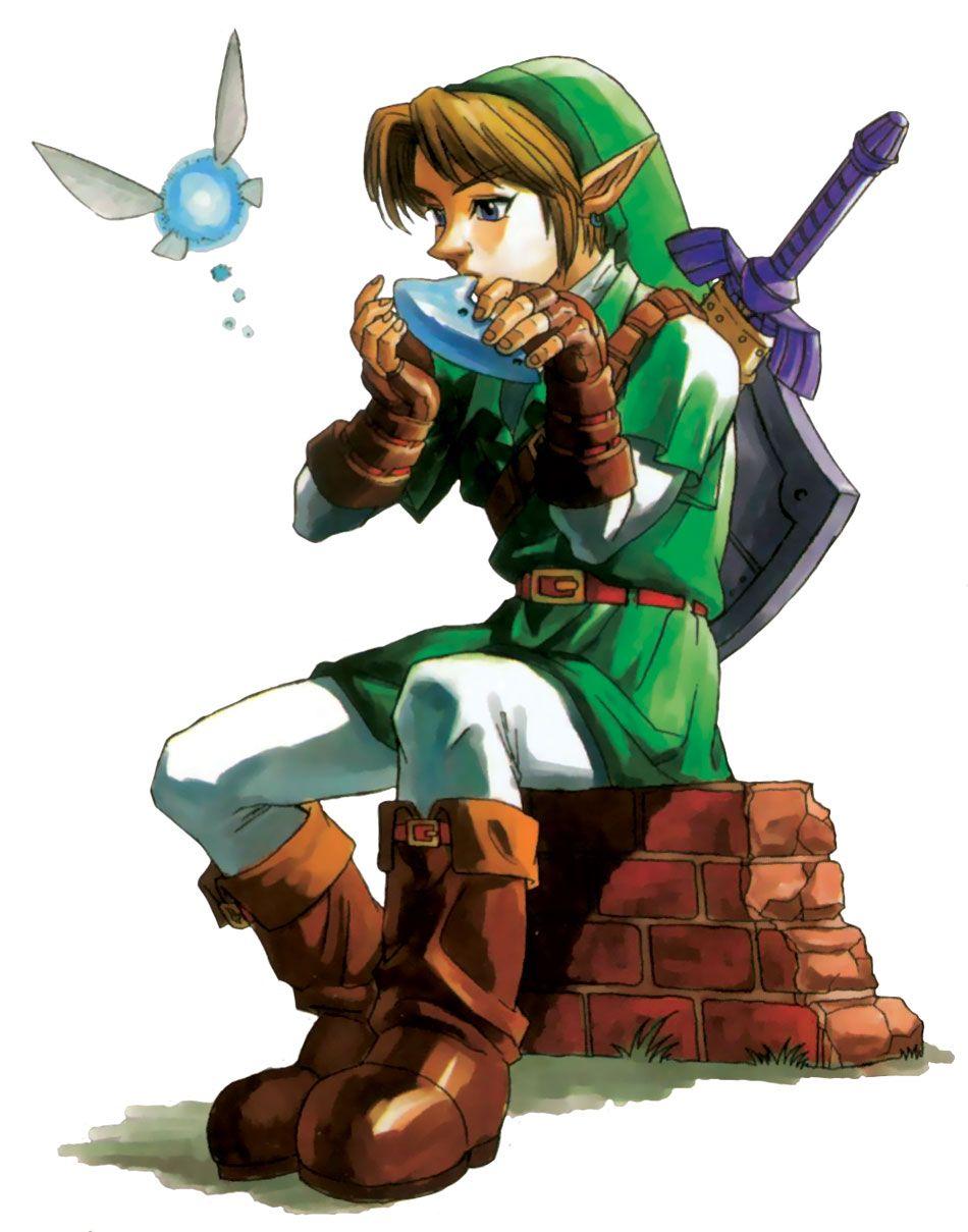 link et son ocarina - Link Et Zelda
