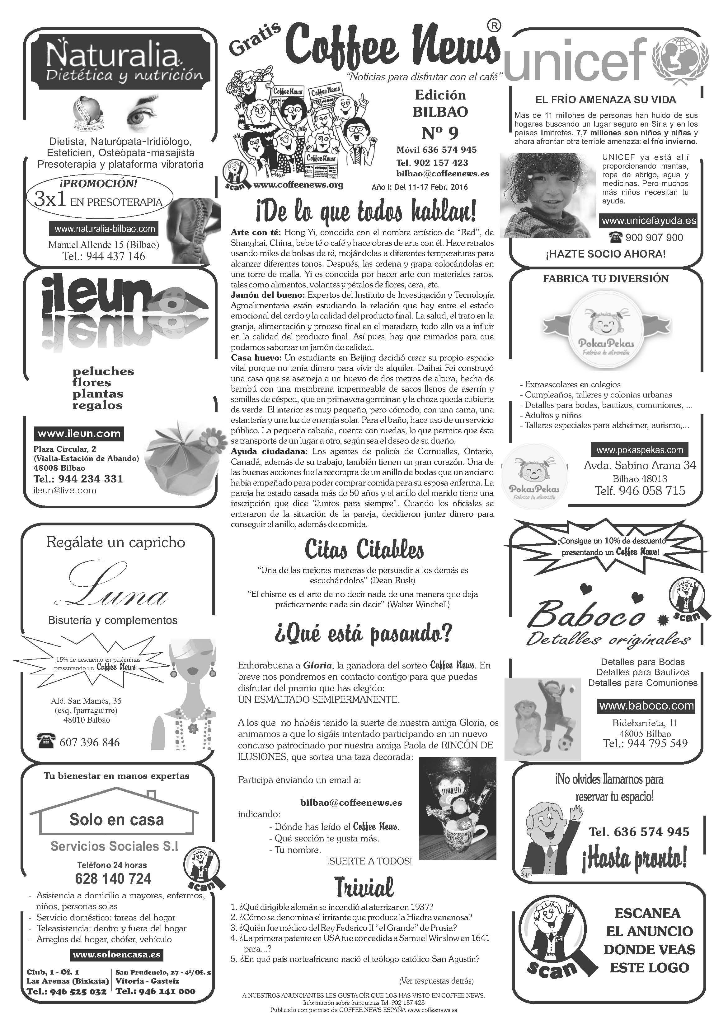 Coffee News Bilbao Nº9