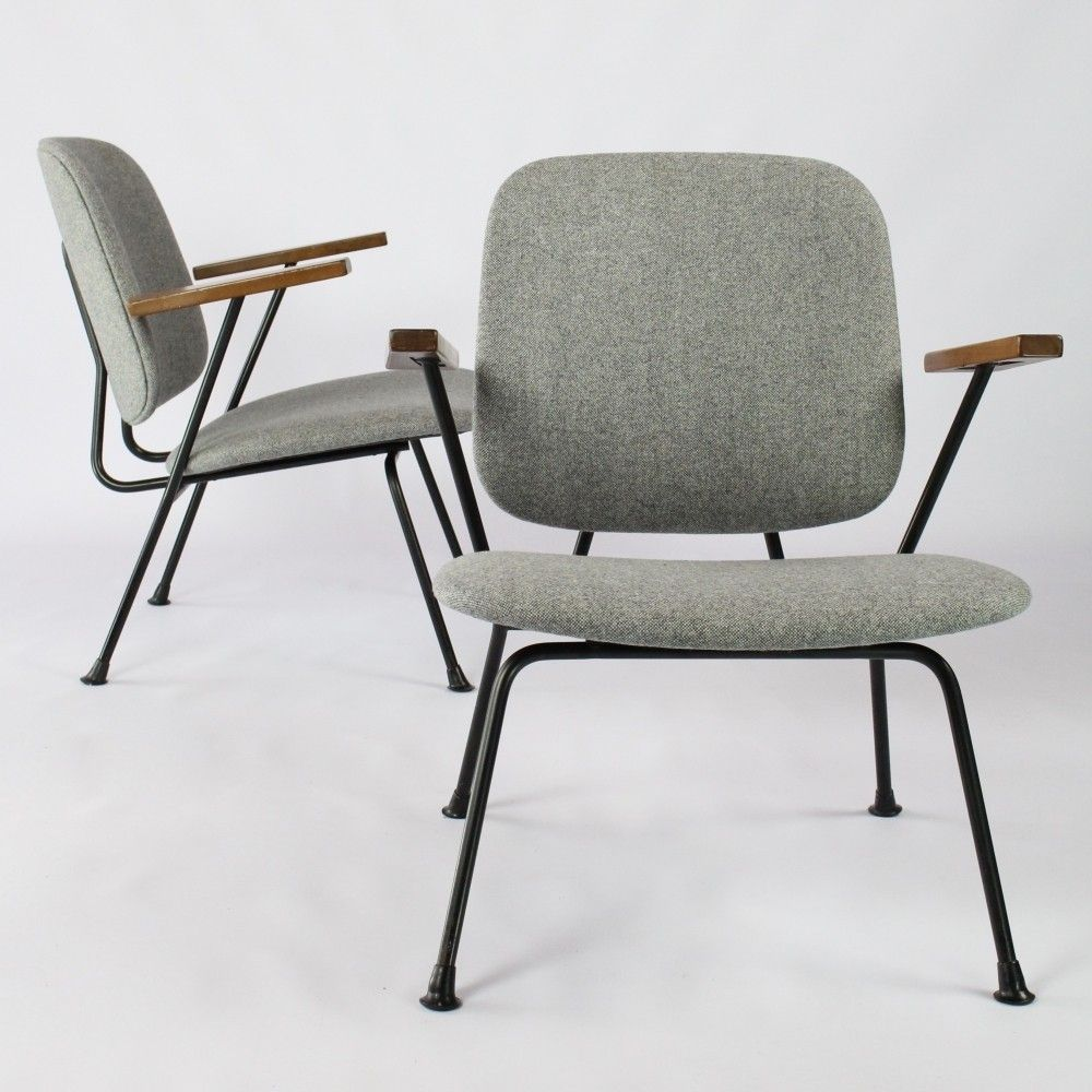 Pair Of Lounge Chairs By W Gispen For Kembo 1950s Leather Dining Room Chairs Midcentury Modern Dining Chairs Retro Dining Chairs #pair #of #chairs #for #living #room