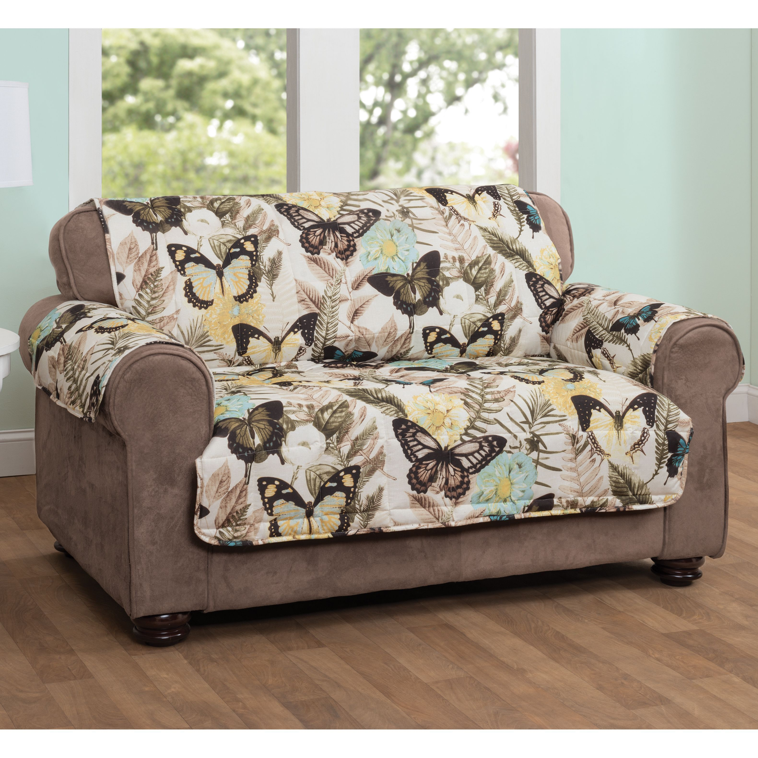 Innovative Textile Solutions Butterfly Sofa Protector Multi