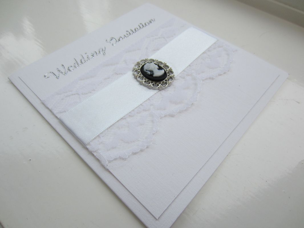 Vintage Cameo Wedding Invitations - Wish Upon A Card | Invitations ...