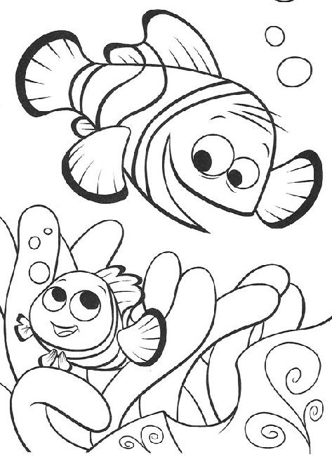Finding Nemo Coloring Pages Finding Nemo Coloring Pages Nemo