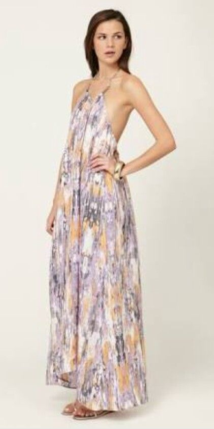Mirror Silk Halter Maxi Dress By Zimmermann At Gilt