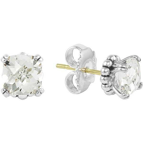 Lagos Sterling Silver Prism White Topaz Stud Earrings 265 Liked On Polyvore
