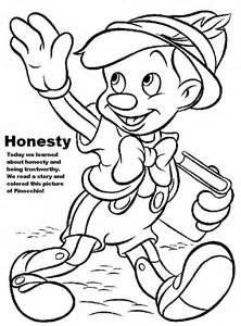 Honesty Coloring Pages For Kids Sketch Template Disney Coloring