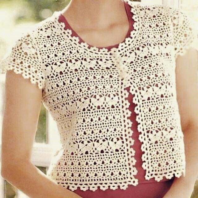 Pin de наталья en вязанные модели | Pinterest | Ganchillo, Blusas y ...