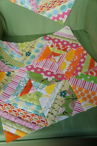 Striped 9 patch block