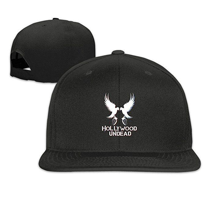 ALLHA Hollywood Undead Hip Hop Band Snapback Hats Flat Cap Black