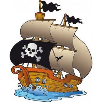 Stickers bateau pirate coloriage pirates pinterest bateau pirate adh sif d coratif et adh sif - Bateau de pirate dessin ...