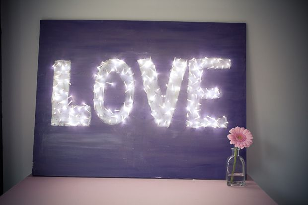 wedding ideas for kids she s crafty canvas lights diy 27815