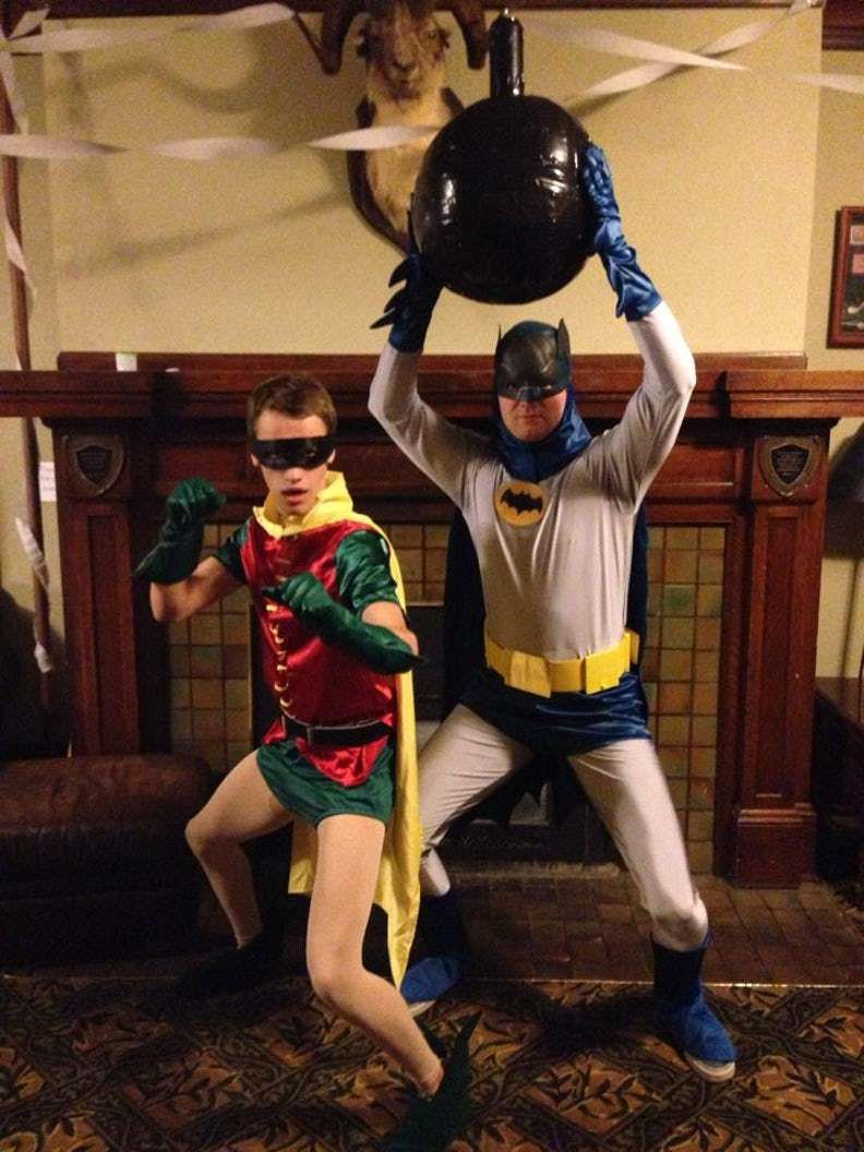 it's really hard to beat the classic batman and robin halloween